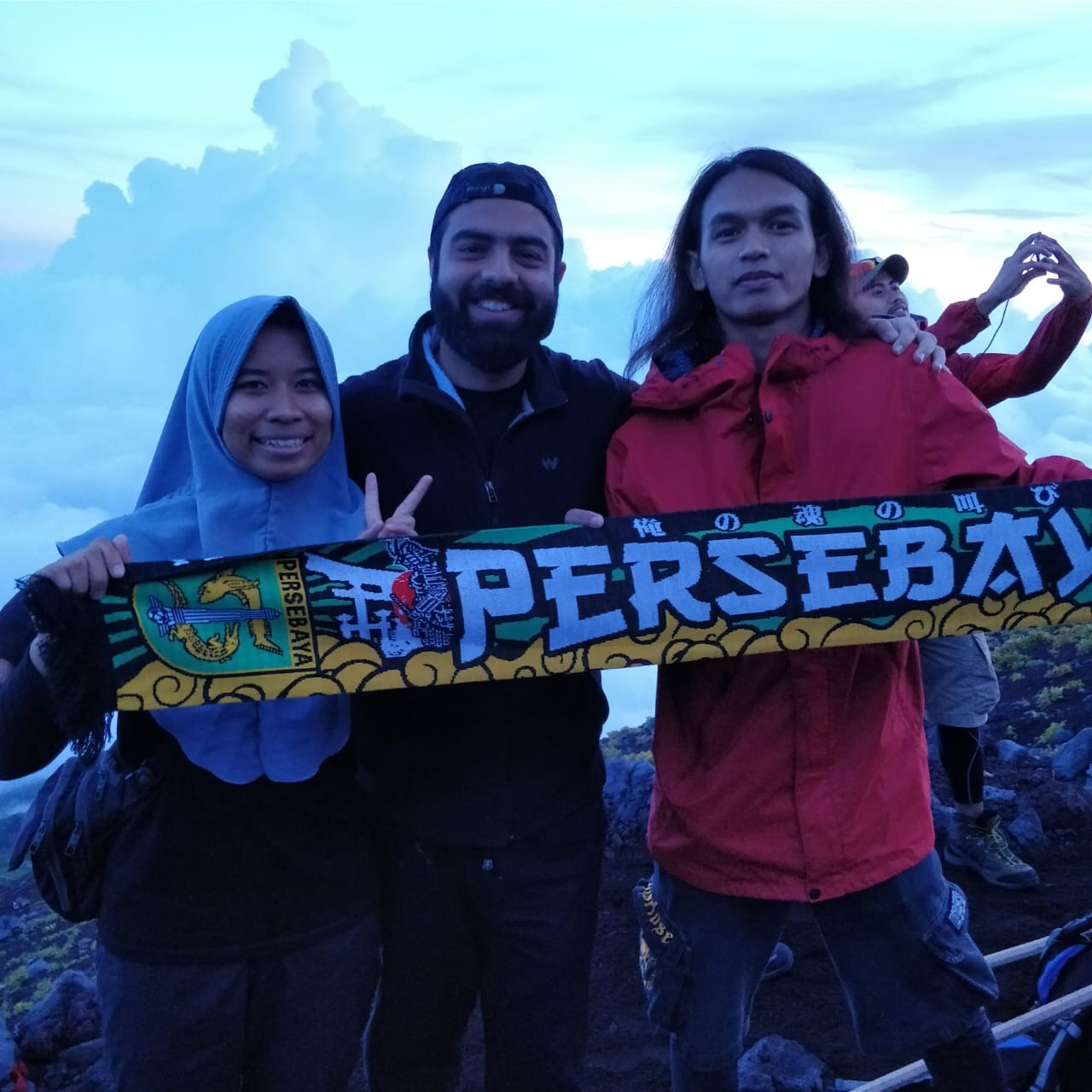 Fellow trekkers from Indonesia