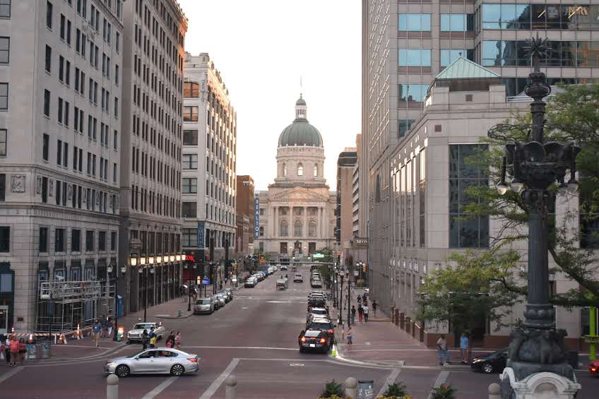 Evening in Downtown, Indy